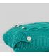 Cojín cuadrado turquesa con botones
