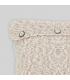 Cojín mezcla tonos marrones con botones