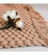 Alfombra marrón con flecos Pipichu Deco