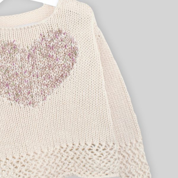 Heart and fantasy sweater