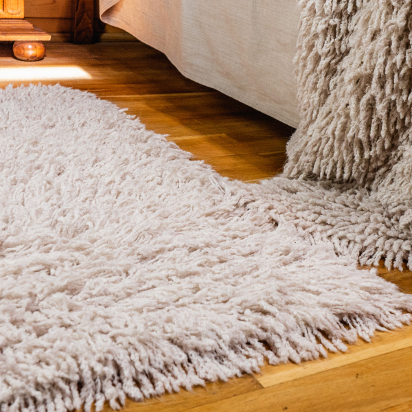 Camel carpet with fringes