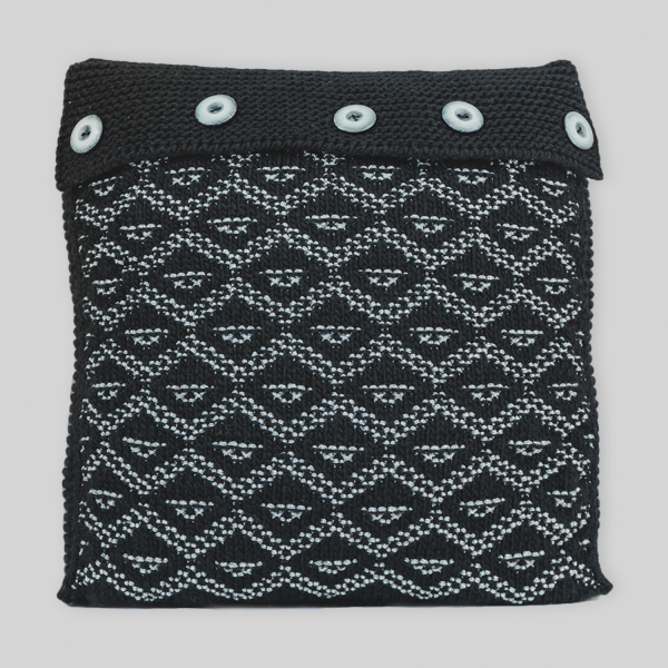 Black lurex cushion