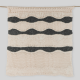Camel rug with fringes made with recycled materials