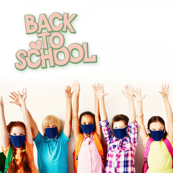 SCHOOL KIT. 5 REUSABLE HYGIENIC MASK WITH REUSABLE FILTERS PACK.