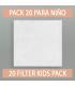 10 filtros de reemplazo para mascarilla reutilizable