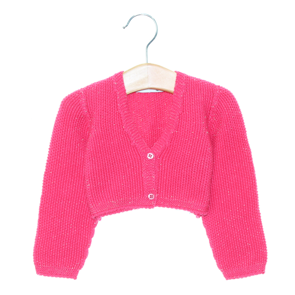 "Ecological cotton bolero jacket made in ""arroz"" knit"
