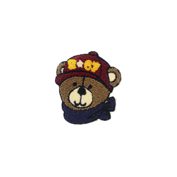 Brown bear patch for sewing