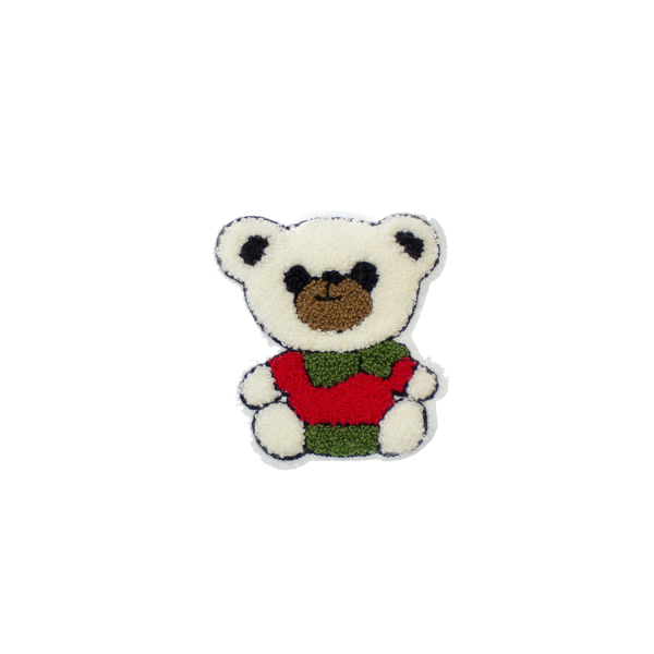 White bear patch for sewing